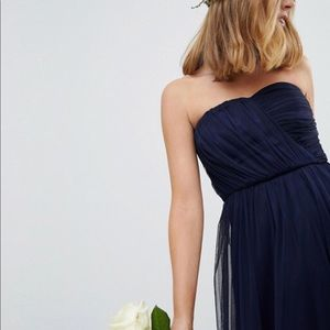 ASOS strapless navy bridesmaid dress size 10 NWT